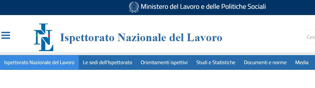 ISPETTORATO LAVORO | Attivo nuovo sito Web e servizi online