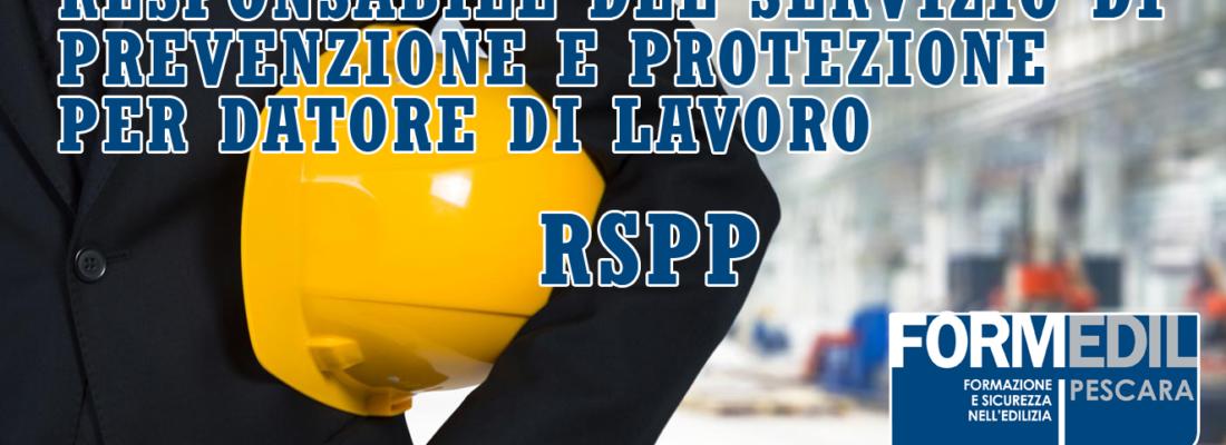 AGG. R.S.P.P Datore di Lavoro – Lezione 1
