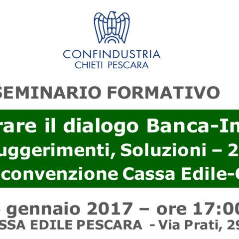 Seminario Informativo – Migliorare il dialogo Banca-Impresa
