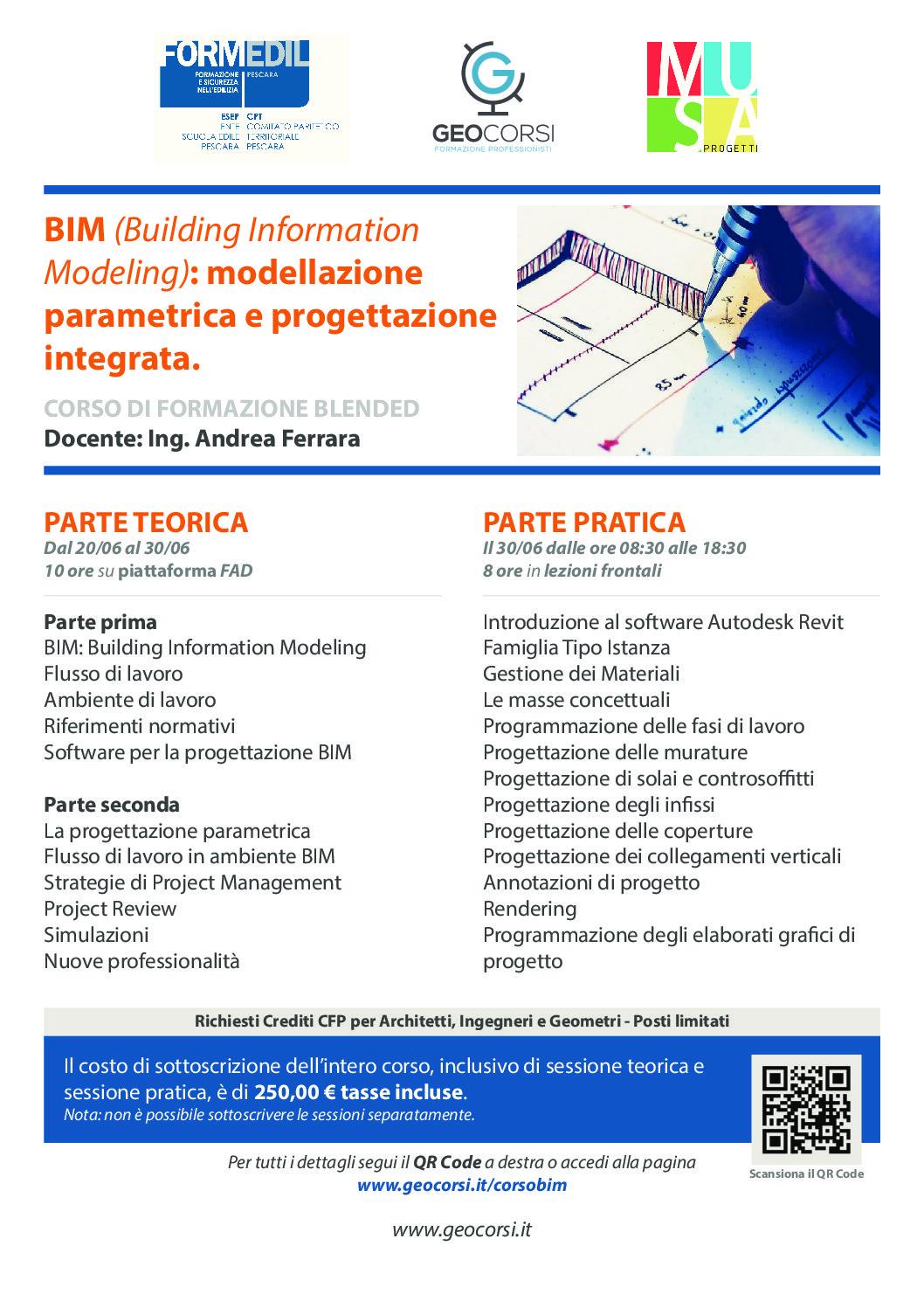 BIM (Building Information Modelling) Modellazione parametrica e progettazione