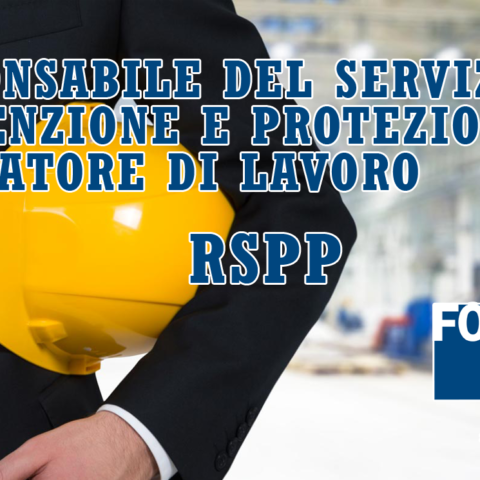 Corso in partenza: Responsabile del Servizio di Prevenzione e Protezione rivolto ai datori di lavoro