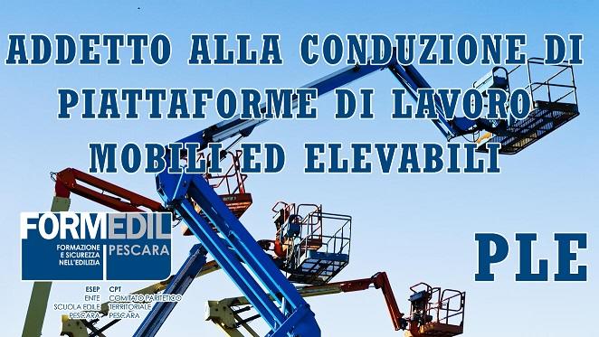 Corso in partenza: Addetto alla Conduzione di Piattaforme di Lavoro Mobili Elevabili con e senza stabilizzatori