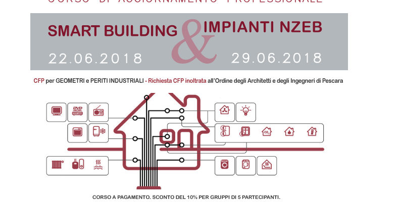 """Edilizia 4.0 """"SMART BUILDING & IMPIANTI NZEB"""" corso di aggiornamento professionale"""