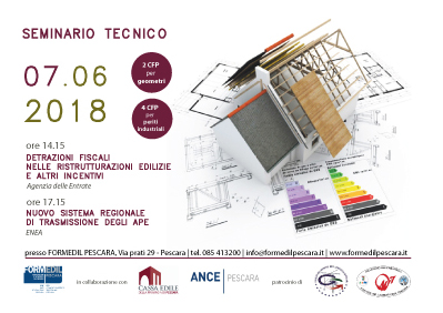 Seminario Tecnico Edilizia 4.0 Giovedì 7 Giugno 2018 ore 14:00