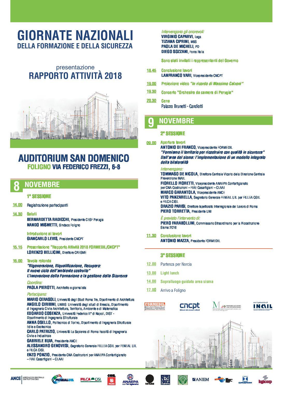 Giornate Nazionali della Formazione e della Sicurezza Auditorium San Domenico